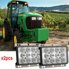 CREE LED Headlight 60W Rectangular Hi Lo Beam AGCO Deutz John Deere White x2pcs
