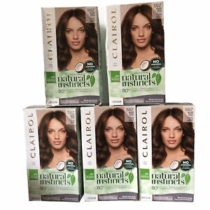 (5) Clairol Natural Instincts Demi-Permanent Hair Color, Medium Bronze Brown 5BZ