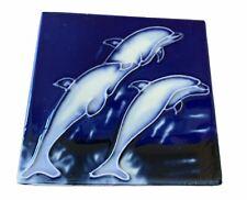 Dolphins Decorative Wall Art Tile 4x4