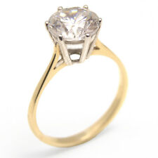 Engagement Ring 2ct Solitaire Diamond Unique 9ct Gold