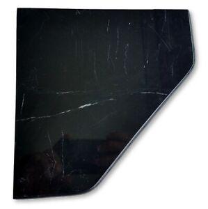 "8"" Marble Shower Corner Shelf (Black Marquina XD) Stone Bath Caddy Soap Dish"