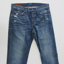 J Brand Dylan Mens Size W30 L34 Skinny Tapered Distressed Blue Jeans