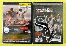 Houston Astros ~ 2 New DVD Video Lot ~ 2005 White Sox World Series ~ Baseball