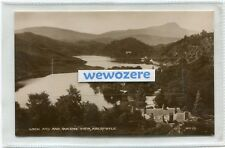 Aberfoyle, Stirling, Loch & Queen's View. RPPC by Valentine's, 1910. Unused