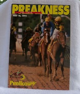 1991 Preakness Stakes Program Mint Condition Hansel Jerry Bailey