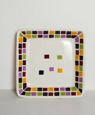 Simple Additions Salad Dessert Plate Small Square Mosaic Tiles Wht Pampered Chef