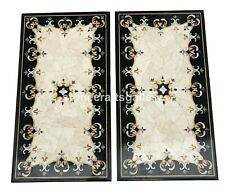 3'x2' Pair of Marble Dining Table Top Precious Mosaic Inlay Living Decorate B108