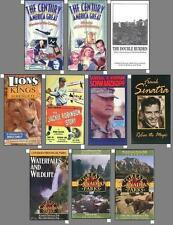 10 New Documentary, History Movies on VHS Videos!    a