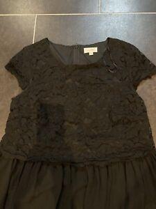 Black Matalan Papaya Maternity Dress Size 12 Party Occasion Lace Baby Festive