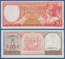 SURINAM / SURINAME 10 Gulden 1963 UNC P.121