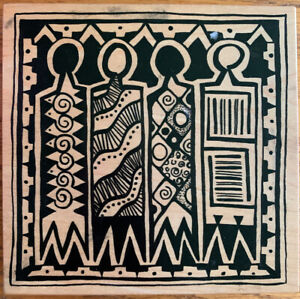 PSX Rubber Stamp Tribal Wood Cut K-1778