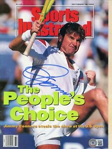 JIMMY CONNORS SPORTS ILLUSTRATED NO LABEL SIGNED AUTOGRAPHED BECKETT BAS