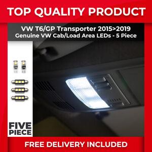 VW T6 TRANSPORTER 15>19 GENUINE OEM INTERIOR LED LIGHT BULB UPGRADE KIT 5 PIECES