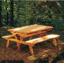 Build-a Picnic Table - Plan-turns-into-2-benches - Free-Shipping