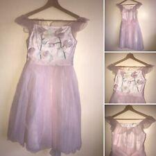 Monsoon Fleur Girls Age 11 152cms Pink Tutu Dress 3d Floral Bridal Party Prom