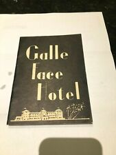 Galle Face Hotel-Colombo,Ceylon 1940's Guest Booklet-Black-Silhouette graphics.