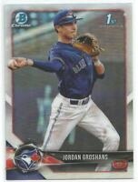 Jordan Groshans Toronto Blue Jays 2018 Bowman Chrome Draft 1st Bowman Refractor