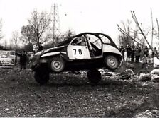 Citroen Dyane 2CV Rallycross #78 Race 9 Mag. 1978 Italian Photograph Wheel Off!