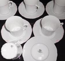 Hutschenreuther Baronesse Estelle Pink 6 Kaffeetassen mit Untertassen 12 tlg NEU