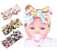 Toddler Girls Baby Kids Big Bow Headband Hairband Stretch Turban Knot Head Wrap
