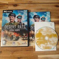 Desert Rats vs. Afrika Korps (PC CD ROM) Rare Complete With Manual