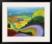 """""""Garrowby Hill"""", by David Hockney, Framed Art, 33x28"""