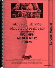 Massey Ferguson Service Manual MF3 MF9 MF10 MF12 Baler MH-S-MF3,9,10+