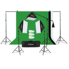 Photography 3 Soft Box Light Stand Continuous Lighting Kit Diffuser + Background