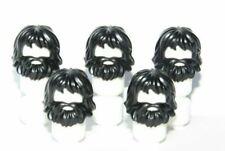 Lego 5 Minifigure Figure Hair Wig Black Beard Man Boy Caveman