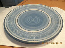 "Dorchester Stoneware Pottery 12"" CHARGER  Rare Colonial Lace Pattern, Signed"
