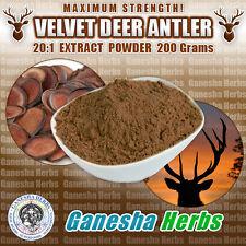 CERTIFIED - DEER ANTLER VELVET 20:1 EXTRACT POWDER 200 Grams MAXIMUN STRENGTH!