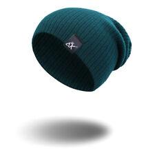 Men Women Unisex Knit Baggy Beanie Winter Warm Hat Ski Slouchy Chic Knitted Cap