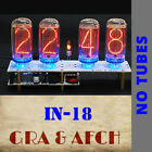 IN-18 Nixie Tubes Clock PCBs for 4 Tubes Temp Sensor F/C 12/24H WITHOUT TUBES