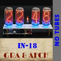 IN-18 Nixie Tubes Clock PCBs for 4 Tubes [WITHOUT TUBES]