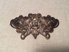 Kerr Antique Art Nouveau Lady Sterling Silver Large Belt Buckle Watch Chatelaine
