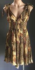 Great SHOWGIRL Charlie Brown Animal Print & Metallic Sleeveless Dress Size 8