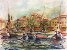 Provence Marine aquarelle XXe anonyme ? France