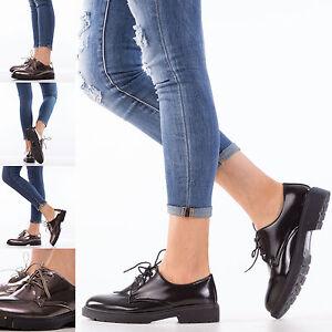 scarpe donna francesine parigine stringate oxford mocassini basse lacci SN26