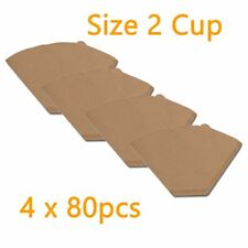 2k Generic Size 02 Filter Papers, Brown, 80 pcs 41 4 Boxes