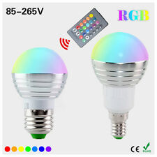 5W E27 LED Bombilla RGBW Control Remoto Cambio De Color RGB Foco Regulable