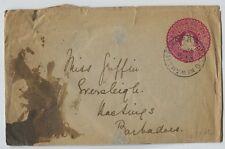 1902 British Guiana postal stationery envelope to Barbados