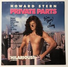 Howard Stern Private Parts Signed Laserdisc Rare Baba Booey Jackie EXACT Proof