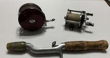 Vintage Fishing Bundle: True Temper Rod Holder, Langley And South Bend Reels