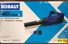 Kobalt Electric Leaf Blower 40 Volt Lithium Ion Brushless Cordless Kit 1130007