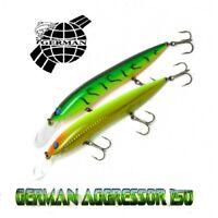 German Aggressor 150mm fishing lures range of colors