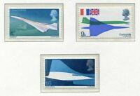 S2592) UK Great Britain 1969 MNH Concorde 3v