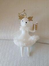 "Macys Holiday Lane Lady Deer white & Gold Christmas 5"" Ornament"