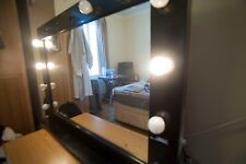 professional hollywood mirror large black