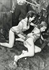 Vintage Photo re-print Wall Art Print of 1950s Pin-up Bettie Page & Model acting