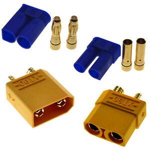 XT30 XT60 XT90 EC2 EC3 EC5 - High Performance RC Connectors UK Seller